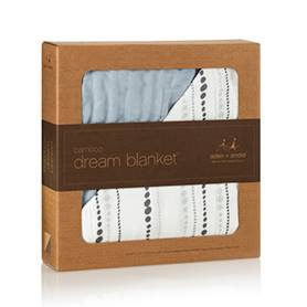 Aden+Anais Bamboo Dream Blanket Moonlight Beads+Solid Bamboo Distros