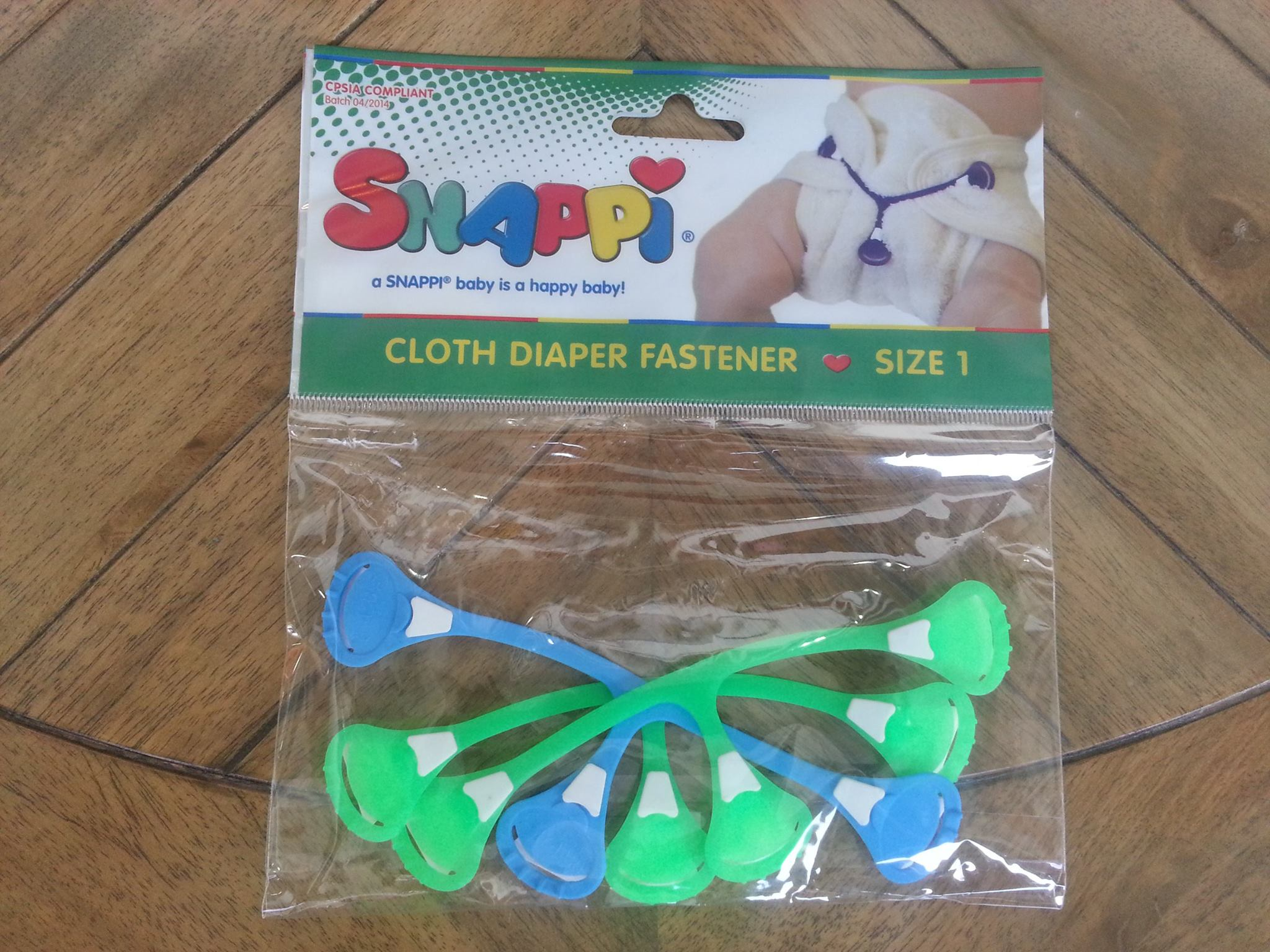 Snappi 3pack Dayglo Green/Dark blue/Dayglo Green