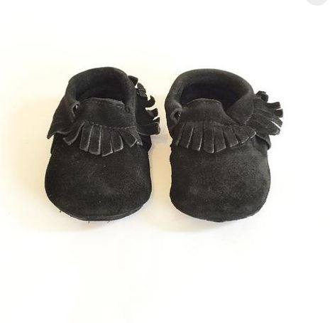 Ben And Adam Baby Moccasins Suede Blackout