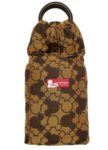12812 Mamaway Baby Ring Sling Mickey Kaleidoscopes Brown