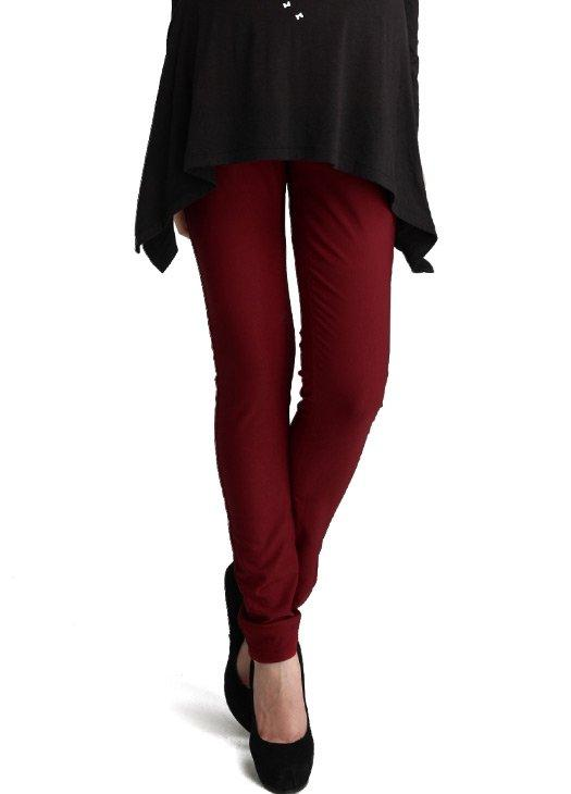13533 (RED)- Colour Intense Skinny Leg Stretch Maternity Pants