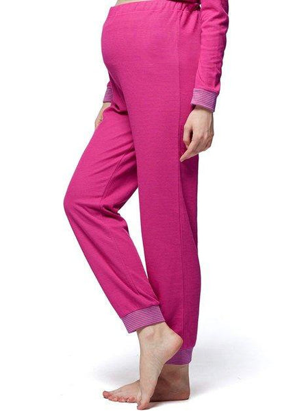 170786 Two Color Cotton Candy Maternity & Nursing Pajama