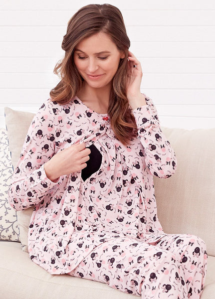 172890 Minnie Design Maternity and Nursing Jammies