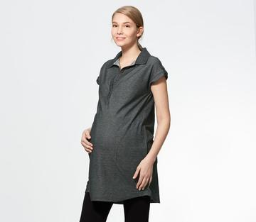 181022X Polo Shirt Maternity and Nursing Top, Black