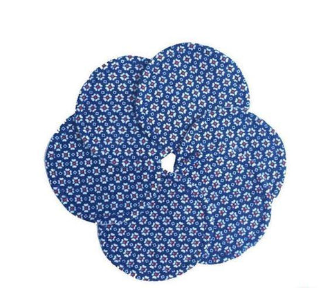 Seve's Mom Cloth Nursing Pads - Royal Blue Florals (Set of 3 Pairs)
