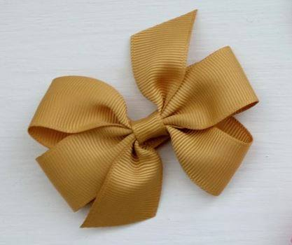 Celestina & Co. Medium Signature Bows Dijon