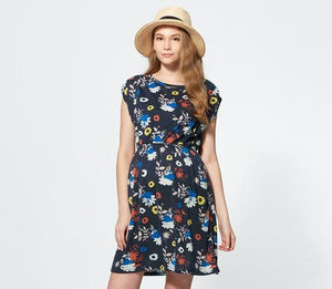 181810N3 Disney Printed Maternity & Nursing Dress