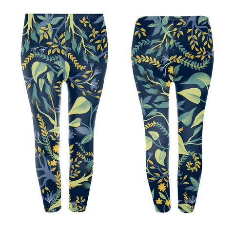 Googoo and Gaga Adult Leggings Fox Floral