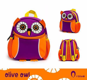 Q Rose Bags Olive Purple Owl