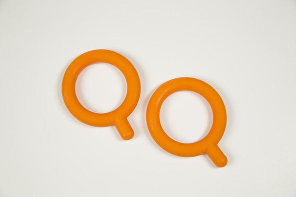 Chewy Tubes Chewy Q Baby Teether 2pk (Stage 1) - Orange