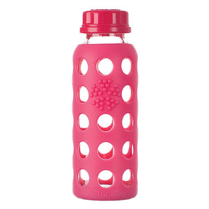 Lifefactory 9oz Glass Water Bottle w/ Flat Cap & Silicone Sleeve