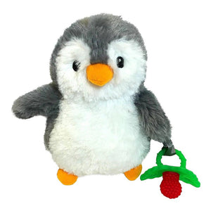 RaZbuddy Paci Holder - RaZ-Berry Red Teether, Ethan Penguin