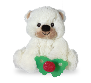 RaZbuddy Paci Holder - RaZ-Berry Red Teether, Bobby Bear