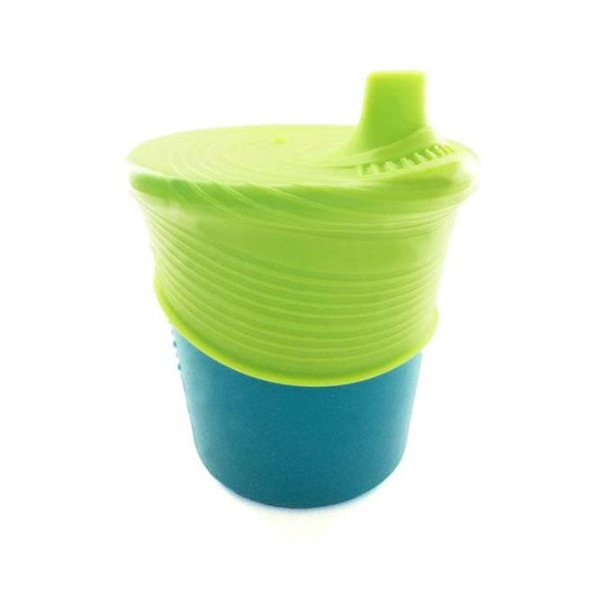 Siliskin Cup & Sippy Top Set ( Teal/Storm)