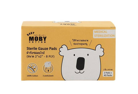 Baby Moby Sterile Gauze Pads 40 packs
