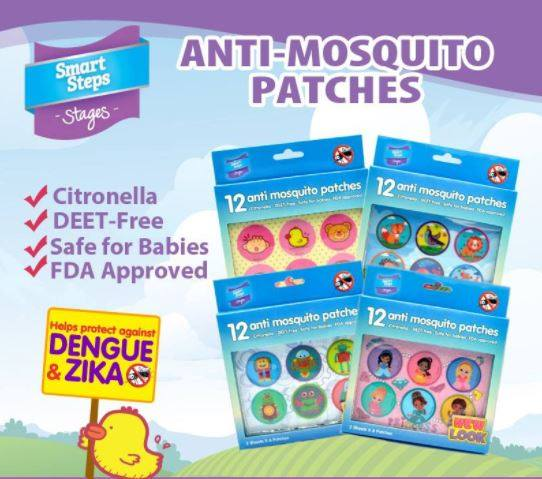 Smart Steps Kids Mosquito Repellent Patch 6s x 2 pack