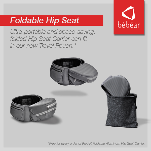 Bebear AX Foldable Aluminum Hip Seat Carrier