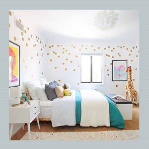 Stiles Polka Dot Decal-Gold (72pcs.)