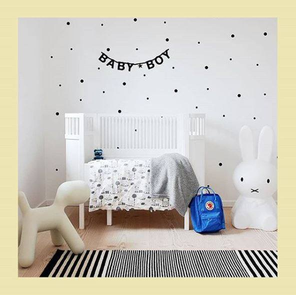 Stiles Polka Dot Decal-Black (72pcs.)