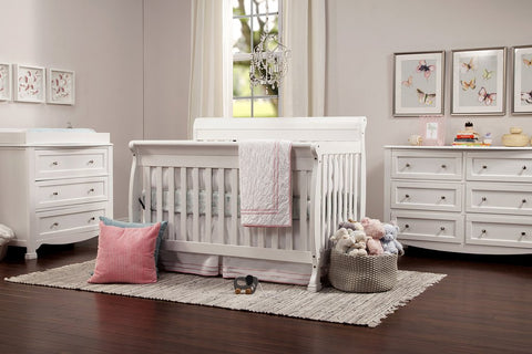 DaVinci Baby Kalani 4-in-1 Convertible Crib with Toddler Bed Conversion Kit - White