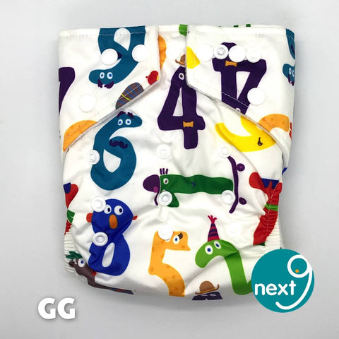 Next9 Cloth Diaper Number Animals