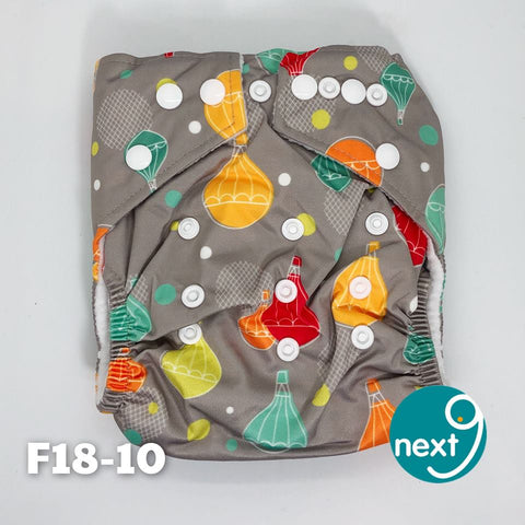 Next9 Cloth Diaper Hot Air Balloons