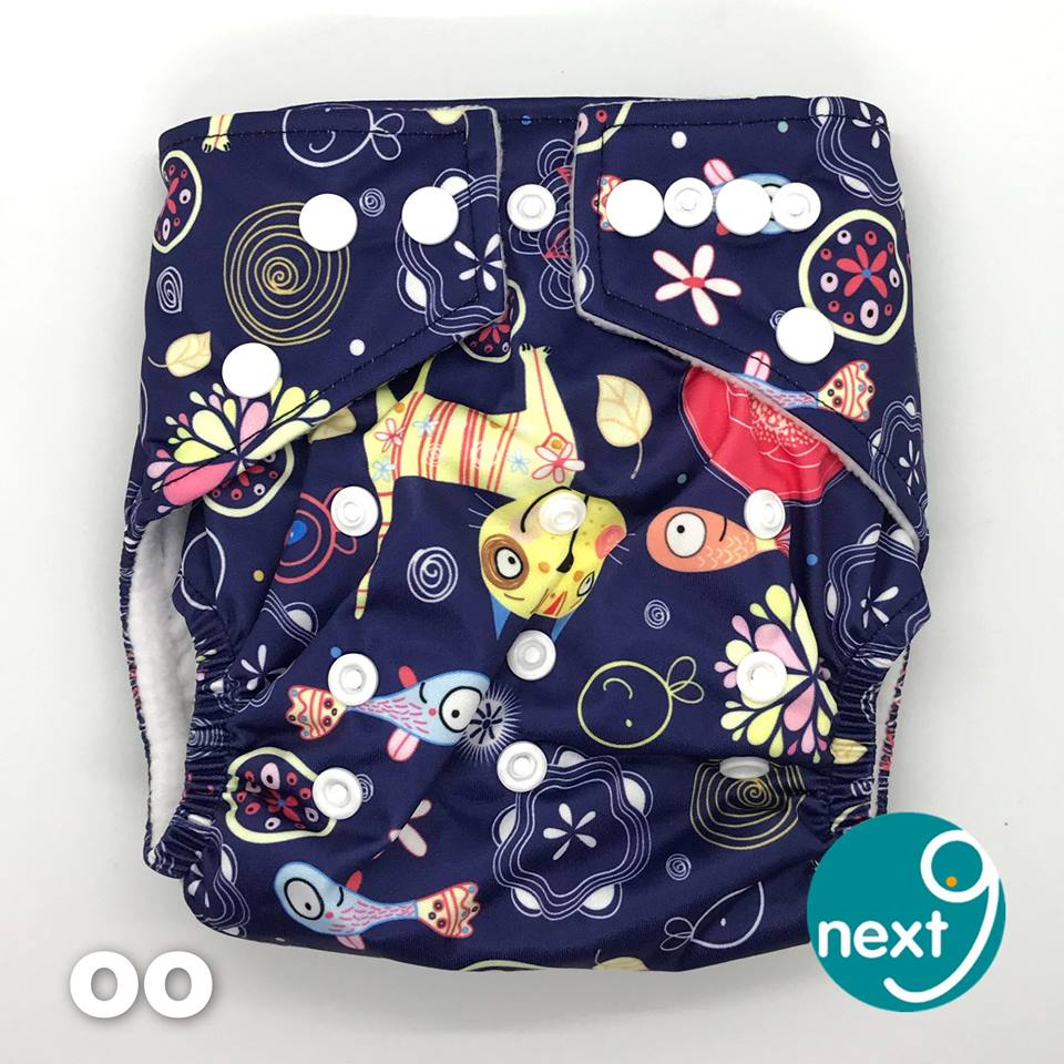 Next9 Cloth Diaper Deep Blue Sea