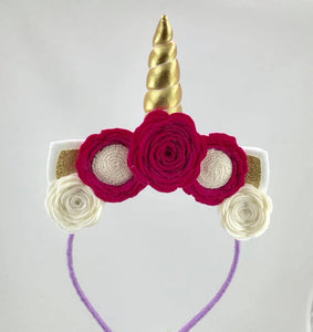 Blooms Republic Unicorn Headbands Gold