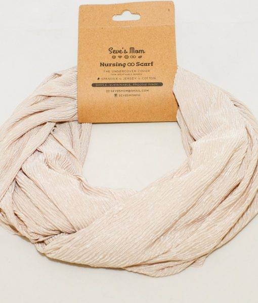 Seve's Mom Nursing Infinity Reversible Scarf - Textured Beige