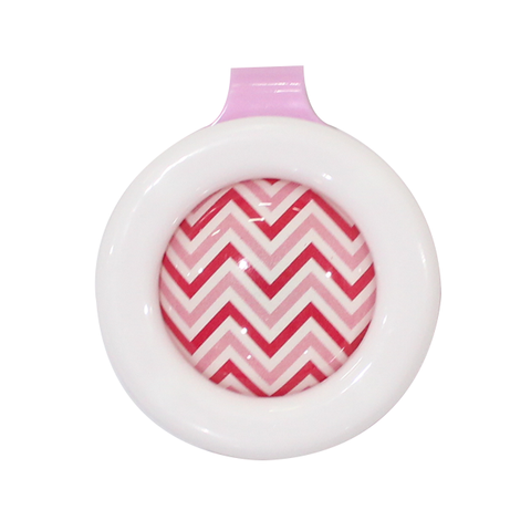 Wing Stop Clip on Reusable Mosquito Repellent - Pink Wave