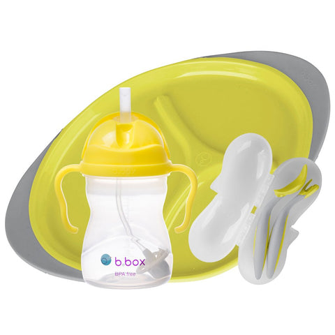 b.box Feeding Set - Lemon Sherbet