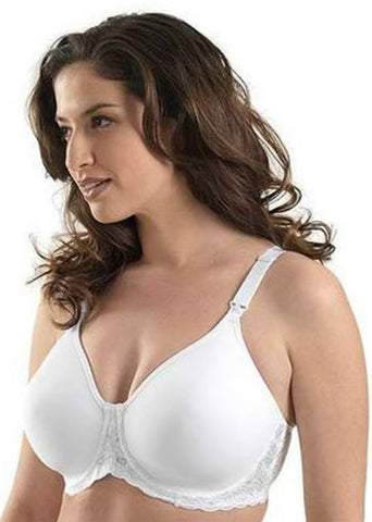 Leading Lady 416 Molded Seamless Lace Underwire Nursing Bra