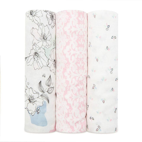 Aden+Anais Silky Soft Swaddle - 3 pack