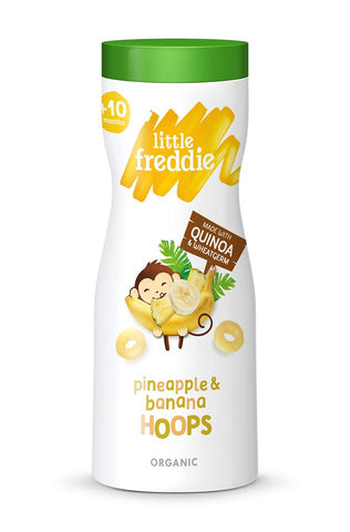 Little Freddie Organic Pineapple & Banana Hoops