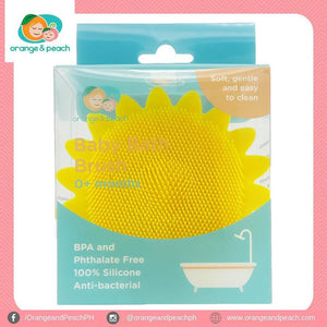 Orange and Peach Silicone Bath Brush