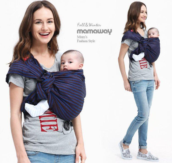 59955 Mamaway Baby Ring Sling Blueberry and Brownie