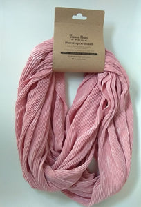 Seve's Mom Nursing Infinity Reversible Scarf - Textured Rose