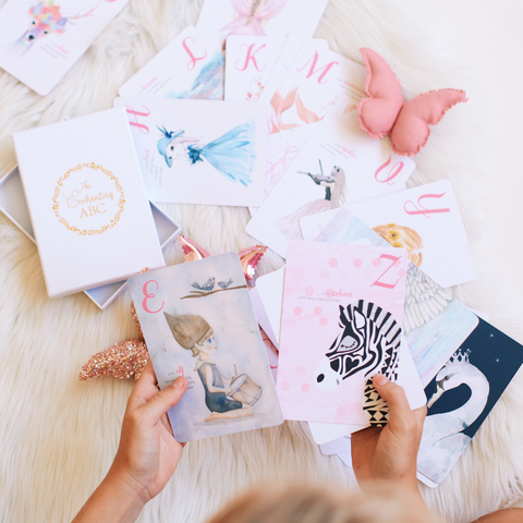 Adored Illustrations The Enchanting ABC Flash Cards
