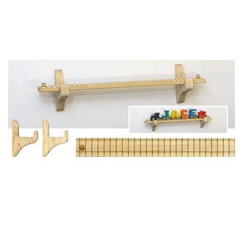 "Maple Landmark NT Wall Mount 17.5"" Track/6 Car"