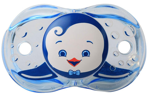 RaZbaby Keep-It-Clean Pacifier, Ethan Penguin