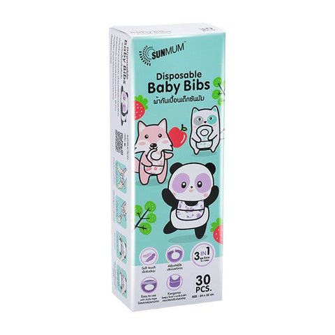 Sunmum Disposable Baby Bibs - 30's