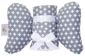 Baby Elephant Ears Grey Cross Gift Set
