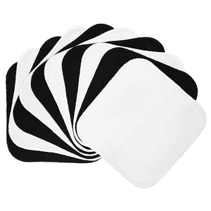 Planetwise Flannel Wipes - Black/White (set of 10)