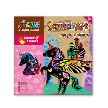 Avenir Scratch Art - Magic Unicorn Pegasus Cut Out
