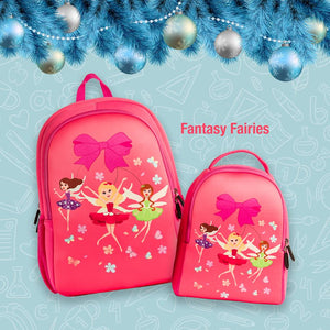 Q Rose Academy Series Backpack & Lunchbag - Fantasy Fairies