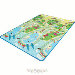 Funnylon 140 Folding Playmat - Asian Train Tour