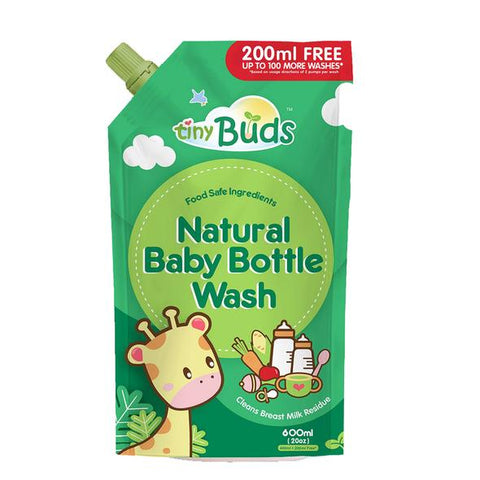 Tiny Buds Natural Baby Bottle Wash Refill 600ml