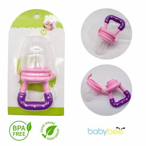 Babybee Fruit Pacifier Feeder - Pink