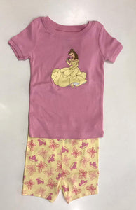 Beauty Pink Top w Butterfly Crown Shorts (18-24m)