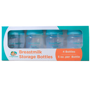 Orange & Peach Breastmilk Storage Bottles 4s